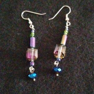 Multi-colored Swarski earrings